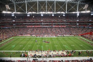University of Phoenix Stadium's field is SI's No. 1 pick for 2015. The stadium hosted Super Bowl XLIX on Feb. 1, 2015.