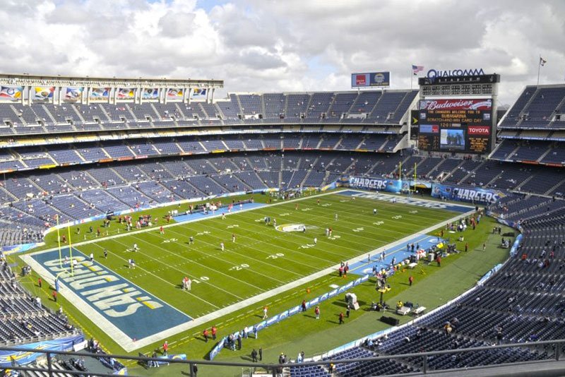 Sports Illustrated ranks top NFL fields : Athletic Turf Qualcomm Stadium Chargers
