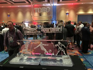 A beautiful ice sculpture crafted for the Opening Event Wednesday night.